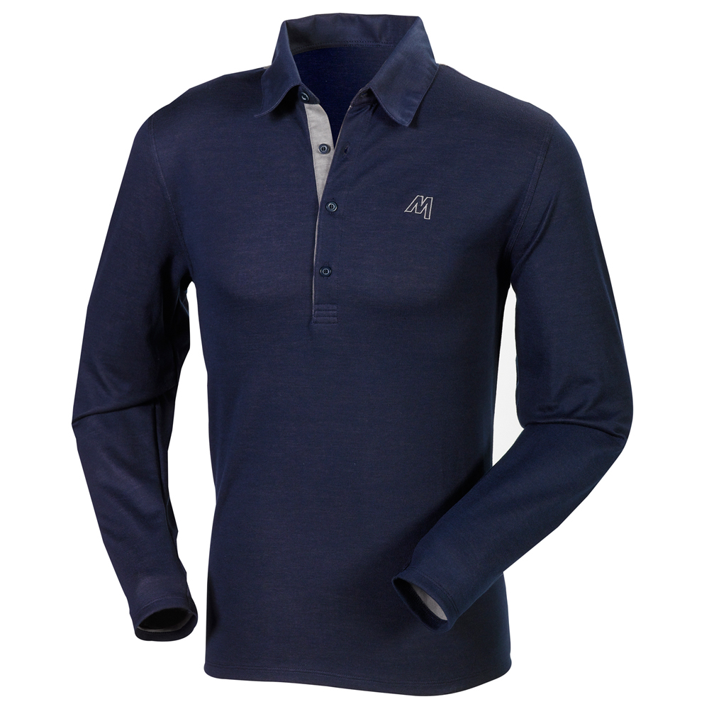 Fancy long-sleeved cotton polo
