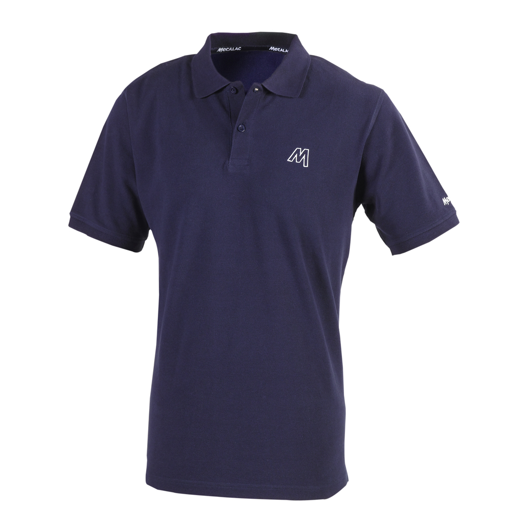 Plain short-sleeved polo