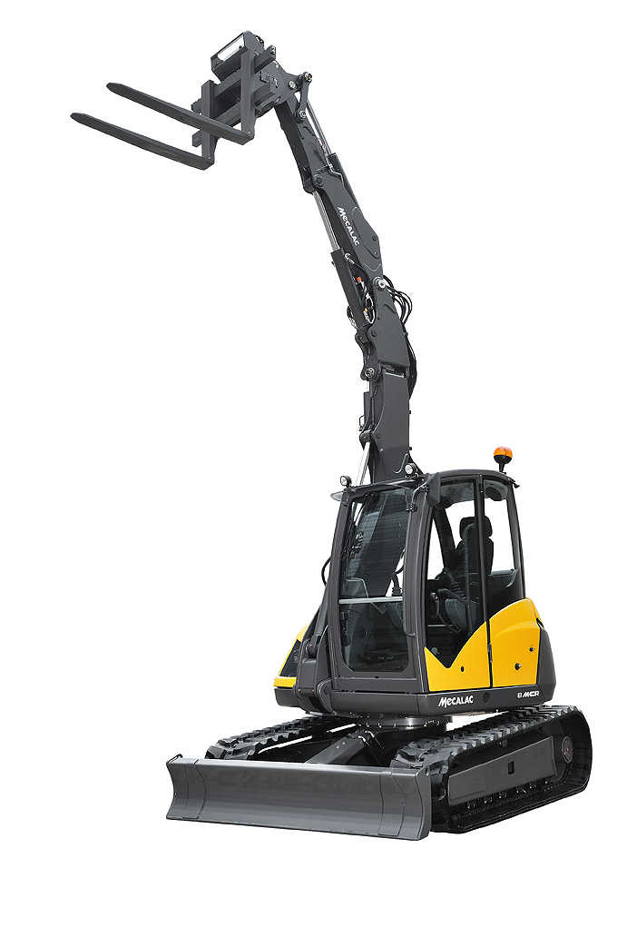 to a fork lift with high reach