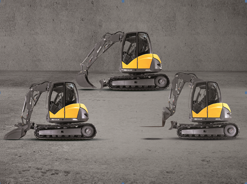 MCR, the fastest steel crawler excavators in the world