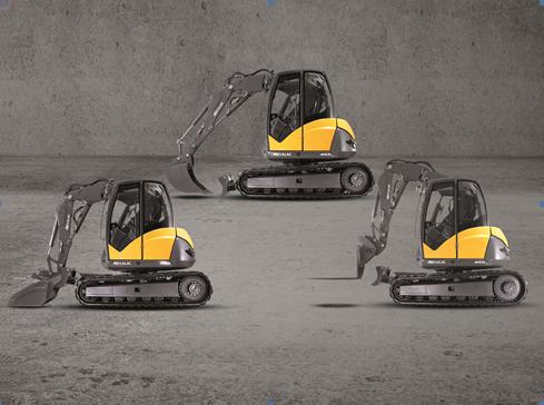MCR, the fastest steel crawler excavators in the world