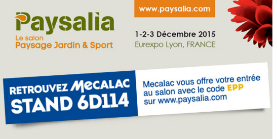 Mecalac will be present at Paysalia Lyon France