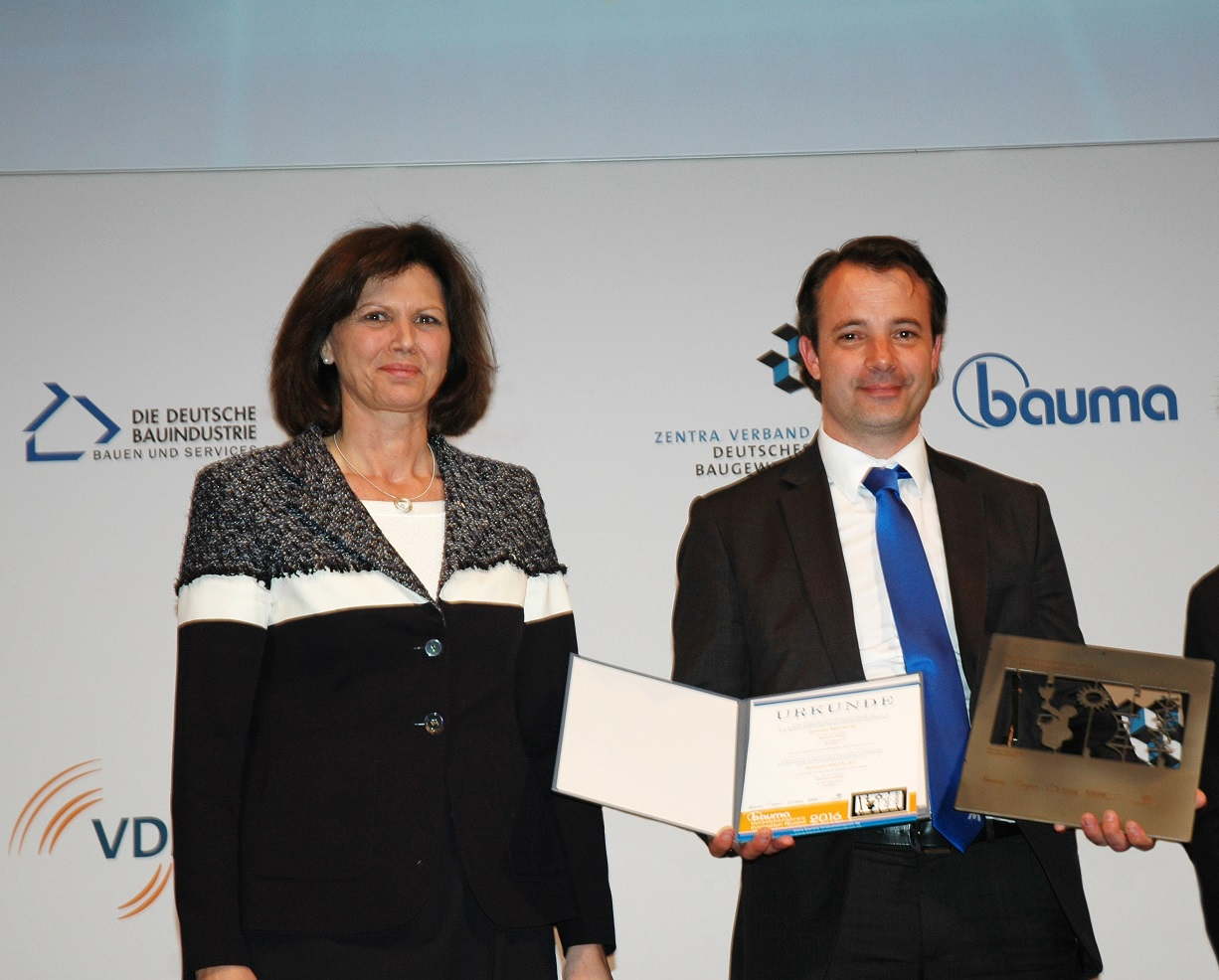 Bauma Innovation Award 2016 im Bereich Design