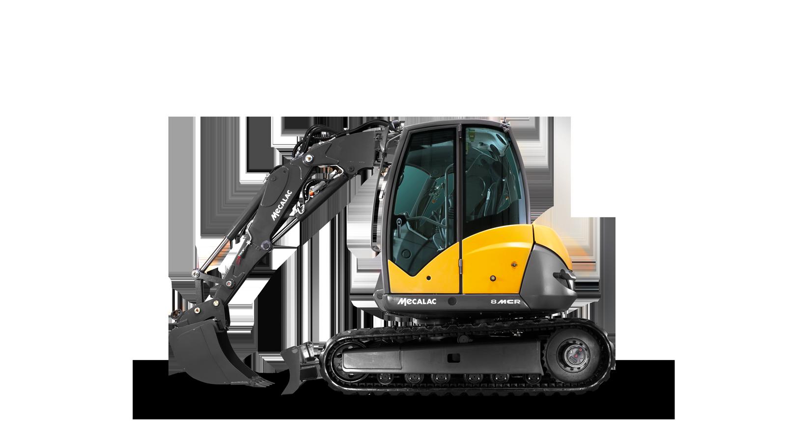 crawler skid excavators mecalac 8mcr