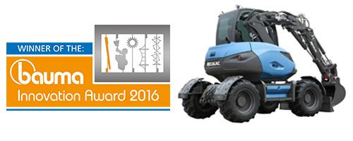 Na Targach Bauma 2016 Mecalac za swój najnowszy pomysł - koparki MWR -  otrzymuje nagrodę w kategorii Najlepszy Projekt.