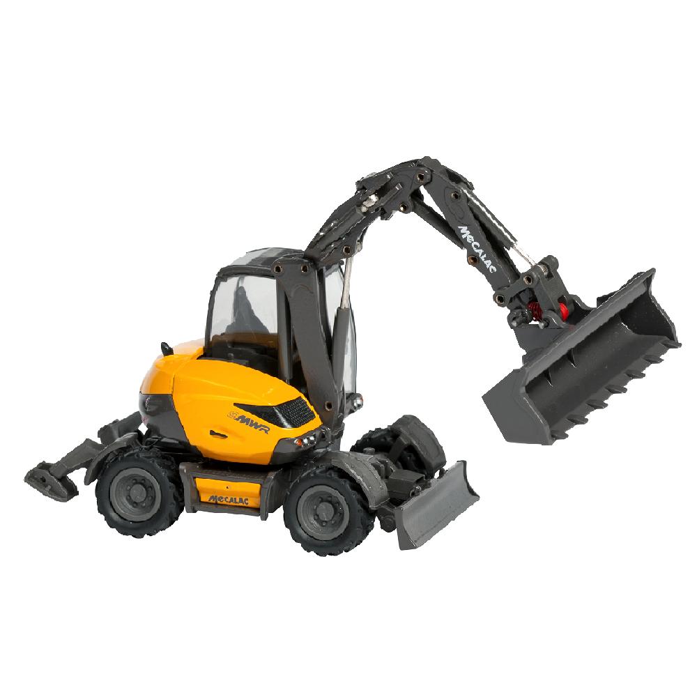 Wheeled Excavator Mecalac 9mwr Scale Model