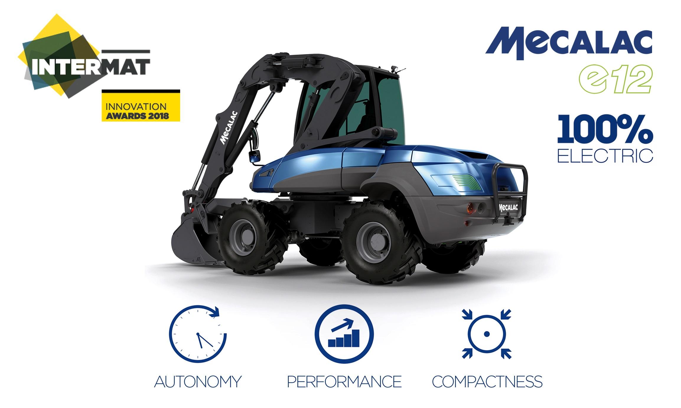 MECALAC e12: a 100%-electric excavator