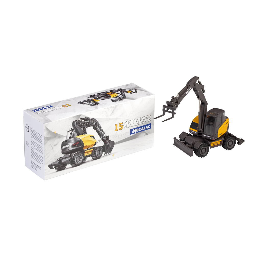 15MWR scale model - excavator boom with offset