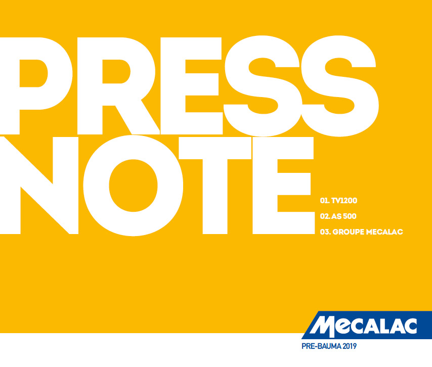 PRE-BAUMA 2019 - Media Dialog press note