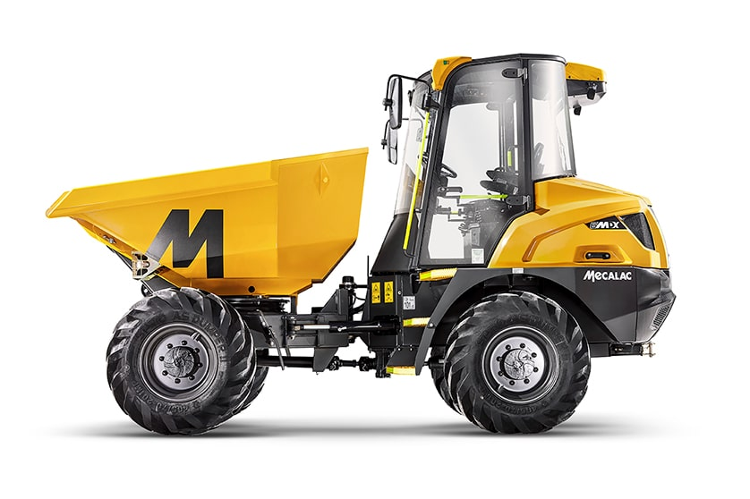'SHIELD' SAFETY DEVICES AVAILABLE ON MECALAC DUMPERS.