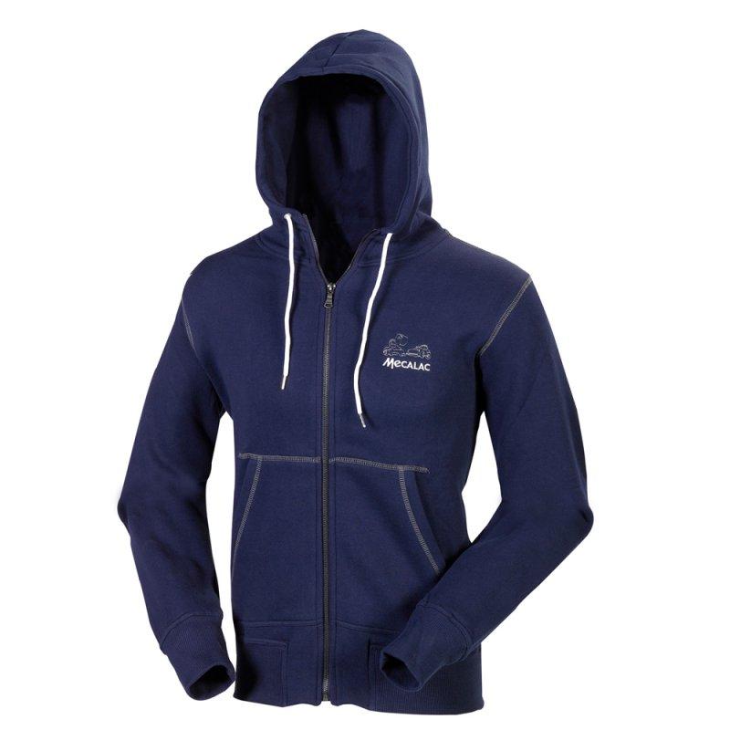 Hooded zipper sweatshirt