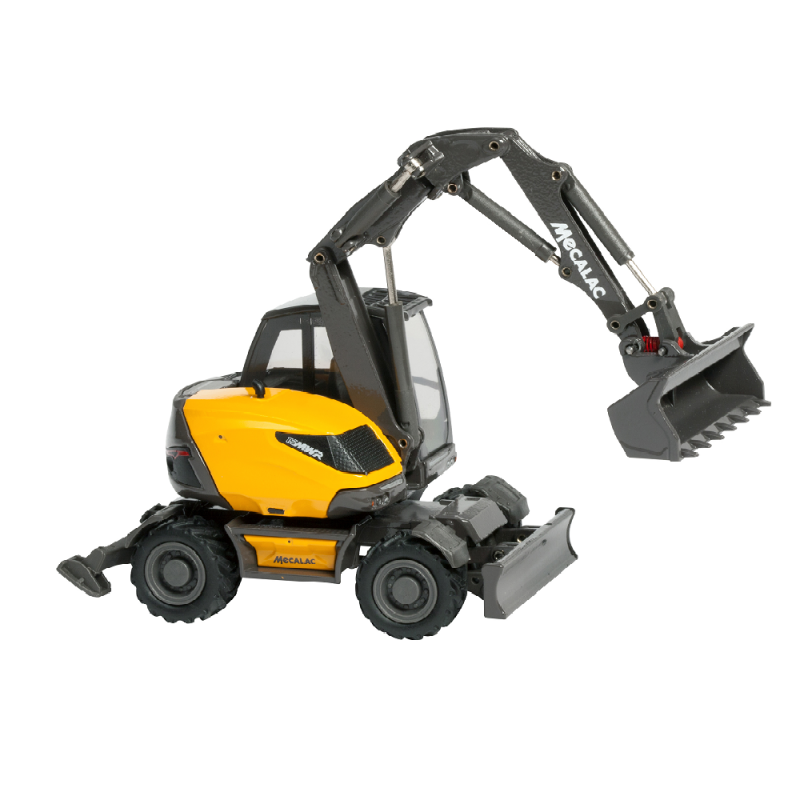 Wheeled Excavator Mecalac 15mwr Scale Model Versatile